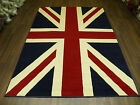 6ft x 4ft APROX  UNION JACK RUG RETRO SALE  MODERN RED WHITE BLUE 120CM X170CM