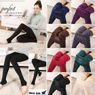 New Women's Solid Winter Thick Warm Fleece Lined Thermal Stretchy Leggings Pants
