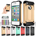 ShockProof Slim Armor Defender Hard Shell Case Cover For Apple iPhone 4 / 4S