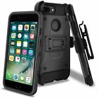 For Apple iPhone 7 Plus Carbon Stealth Armor Hybrid Belt Clip Holster Case Cover