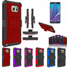 Hybrid Defender Kickstand Case Cover + Clip Holster For Samsung Galaxy Note 5