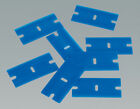 PLASTIC AND SINGLE SIDED RAZOR BLADES, FOR CLEANING RESIDUE FROM THE GLASS