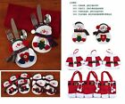 XMAS Decoration Santa Claus Snowman Tableware Cover Candy Cover Table Decor Gift