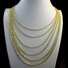 REAL STERLING SILVER G/P DIAMOND CUT VALUE ROPE CHAIN NECKLACE 2.5MM 14~24 INCH