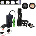 CREE XM-L T6 LED Zoomable 5000Lm 18650 Rechargeable Flashlight Military Torch