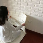10 Rolls 3D Foam Effect Stone Brick Wall Textured Vinyl Wallpaper Self-adhesive