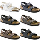 Birkenstock Milano Black White Brown Blue Birko-flor Sandals Mens Womens Shoes