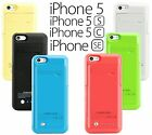 External Battery Backup Power Bank Charger Pack Cover Case For iPhone 5 5S 5C SE