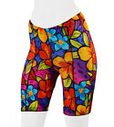 Aero Tech Designs Womens Bright Floral Spandex Padded Bike Short Cycling Shorts