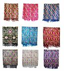 100% Cashmere Pashmina Shawl Wrap Embroidered Scarf Women's Large Winter Scarves