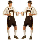 Mens Lederhosen Oktoberfest Bavarian Beer Guy German Fancy Dress Costume Outfit