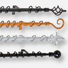 13mm-16mm EXTENDIBLE METAL CURTAIN POLES - GOLD / BLACK / SILVER