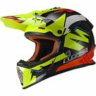 LS2 YOUTH FAST MINI MOTOCROSS HELMET EXPLOSIVE YELLOW MX, OFF ROAD