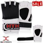 MMA Leather Karate Bag Gloves Boxing Martial Arts Gym Training Grappling Mitts