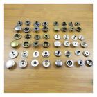POP SNAP FASTENERS 12mm & 15mm BLACK, SILVER or ANTIQUE BRASS STUD LEATHER CRAFT