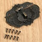 Antique Brass Embossing Hardware Decorative Jewelry Box Latch Trinket Box Hasp