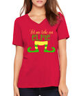 LET ME TAKE AN ELFIE funny Christmas gift Chainsmokers Women's V-neck T-Shirt