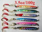 ONE (1) Knife Jigs 3.5oz /100g Vertical Butterfly Fishing Lures Select Colors