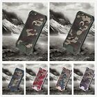 For iPhone8 X Samsung S7 Camo Camouflage Dual Rugged Shockproof Case Army Bumper