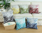 CaliTime Cushion Cover Throws Pillow Case Poly Fleece Gradient Flowers Sofa 45cm