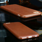Luxury Ultra Leather Grain Soft TPU Case Back Cover For Apple iPhone 5 6S 7 Plus