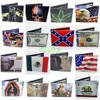 Printed Handcrafted BI Fold Mens Leather wallet