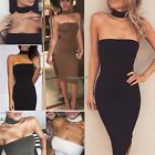 Women Casual Summer Cocktail Party Evening Bodycon Sleeveless Mini Dress ED