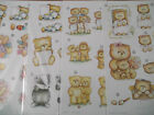 A4 Paper Die Cut Cardmaking Decoupage Sheet Teddies Various Designs