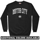 Motor City 313 Detroit Men's Sweatshirt - Crewneck S-3X - Lions Wings Pistons MI