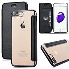 Deluxe Slim book Leather +TPU wallet Flip Cover skin Case For iPhone 7 & 7 Plus