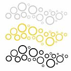 New Circle Acrylic Plastic 3D DIY Mirror Wall Sticker Home Decor Decal Removable