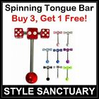 Spinning Tongue Bar Barbell Spinner Sexy Erotic Piercing Pleasure Rotating Adult