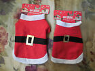 Happy Christmas Holiday Red Santa Pet Costume Dogs Cats