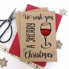 6/10 Luxury personalised kraft christmas cards SHERRY MERRY CHRISTMAS envelopes