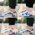 New Fashion Casual Lace Up Sneakers Breathable Men's Sports Running White Shoes