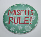 MISFITS RULE CHRISTMAS MAGNET or PIN BUTTON Party Holiday Island Misfit Toys Art