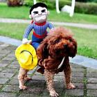 Fancy Pet  Dog Puppy Halloween Costumes Riding Cowboy Knight Coat Clothes LIN