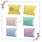 50/100X Pillow Kraft Candy Boxes Favor Gift Xmas Wedding Party Decor Colour