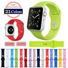 Replacement Silicone Bracelet Sport Strap Band For Apple Watch iWatch 38/42mm