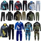 HNL Mens Tracksuit Set Fleece Hoodie Top Bottoms Gym BASE Jogging Joggers