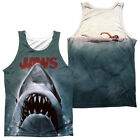 JAWS POSTER Licensed Adult Men's Graphic Tank Top Sleeveless Tee SM-3XL