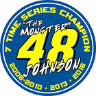 johnson 7 johnson - #48 Jimmie Johnson 7 time series champion racing sticker decal - WHITE OR BLUE
