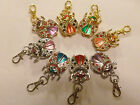 CHOICE FANCY LADYBUG BEETLE WITH STONES 2-IN-1 NECKLACE/KEYRING WATCH USA SELLER