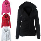 Sizes Women's Hooded Jacket Long Sleeve Hoodies Sweatshirts Zip Coat Outerwear