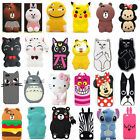3D Cute Animals Bear Cat Cartoon Soft Silicone Case Cover Back Skin For iPhone