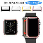 Apple Watch Series 3/2/1 38/42mm Full Cover Snap-on Case &Glass Screen Protector