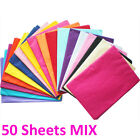 Mixed 50 Sheets 5 Colours 35x45cm Tissue Paper ACID FREE Party Gift Wrapping