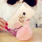 Cute Bling Liquid Glitter Diamond Bowknot Soft Case Cover for iPhone 6/6S/7 Plus