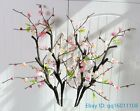 1 PCS Artificial peach blossom Plum silk flower Home Wedding Decoration F376