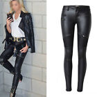 New Sexy Faux Leather High Waist Skinny Pants Stretch Jeans Slim Pencil Trousers
